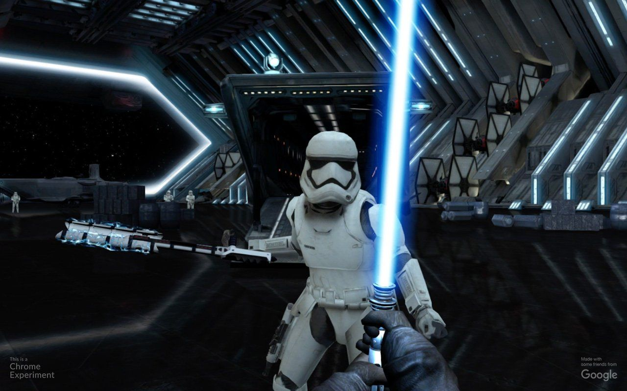 """Google, in tandem with Disney andIndustrial Light & Magic, just launched an interactive experience titled """"Lightsaber Escape""""on Chrome browsers everywhere."""