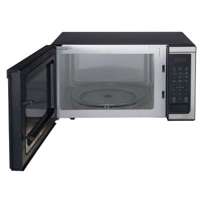 Oster 1 1 Cu Ft 1000w Microwave Stainless Steel Ogcmdm11s2 10 Microwave Countertop Microwave Oven Stainless Steel