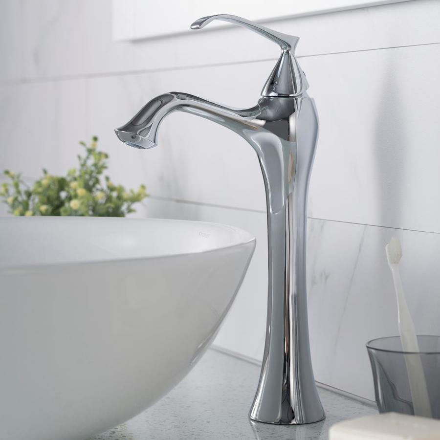Kraus Ventus Chrome 1 Handle Vessel Watersense Bathroom Sink Faucet Lowes Com Sink Faucets Bathroom Sink Faucets Faucet [ 900 x 900 Pixel ]