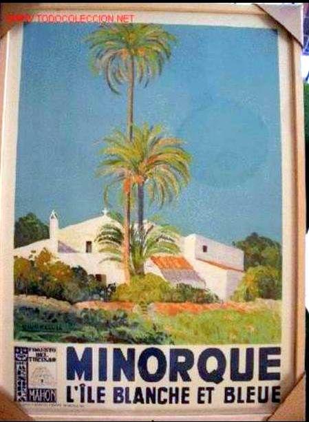 Iles Baléares Vintage French Posters Pinterest Menorca, Travel - Camping Le Touquet Avec Piscine Couverte