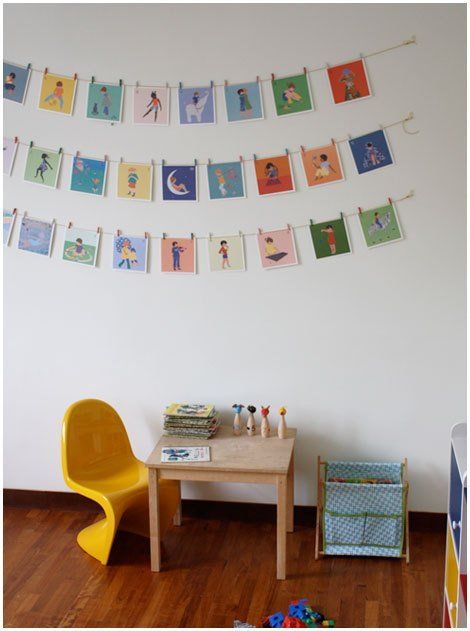 10 Ways To Hang And Display Abc Flashcards Diy Kids Decor Kids Decor Accent Wall Designs