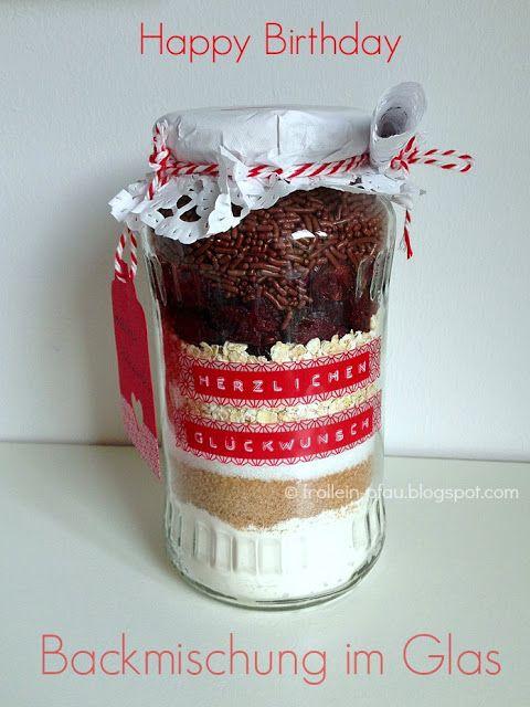 Backmischung, Kuchen im Glas, Cookies, Geschenk, Geburtstag - geschenke aus der küche rezepte