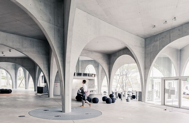 Toyo ito tama art university library in tokyo photographed by