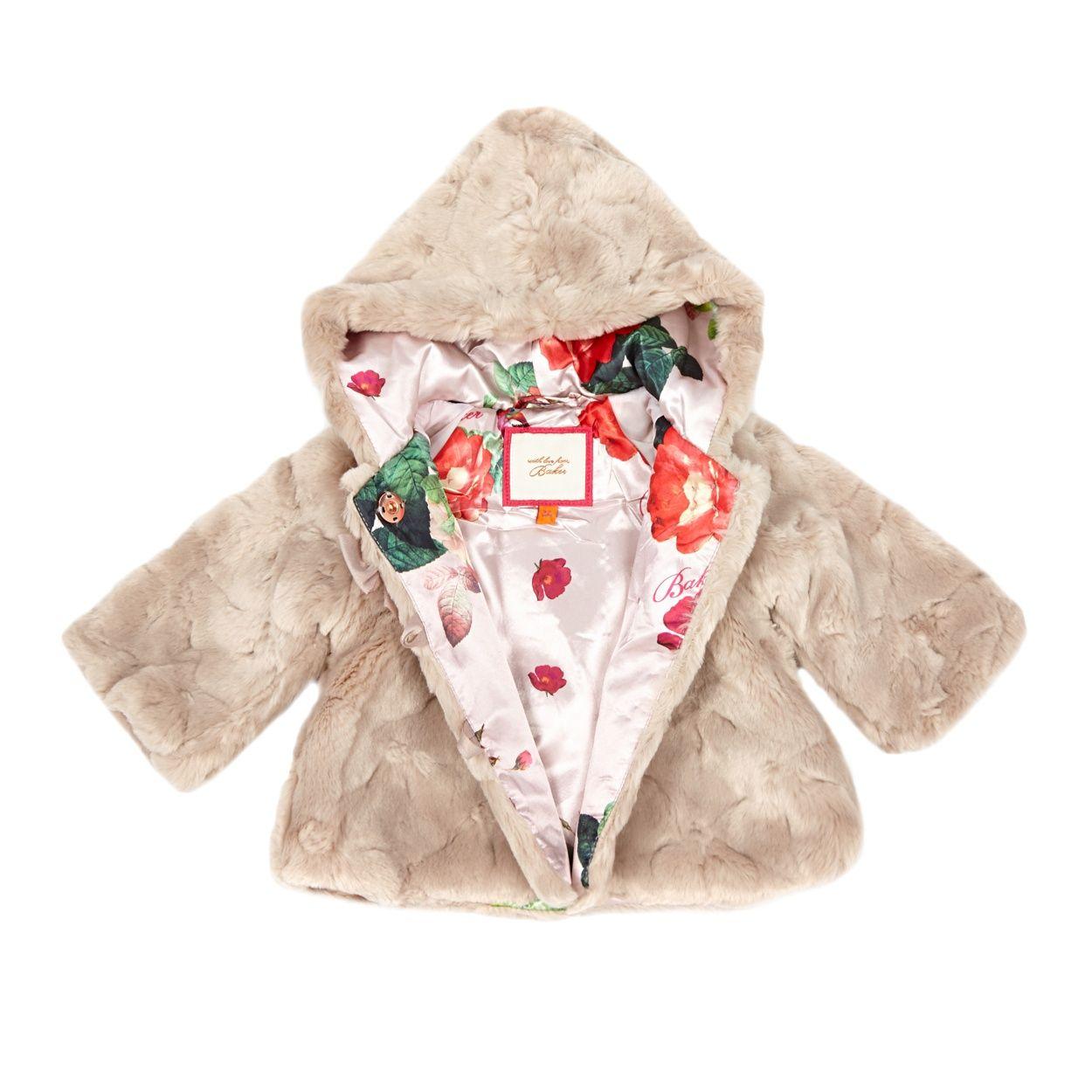 Baker by Ted Baker Baby girls' pink fur coat   Debenhams