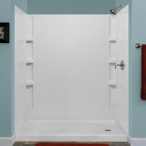 Lyons Monaco Premium Tile Sectional Shower Wall Kit at Menards ...