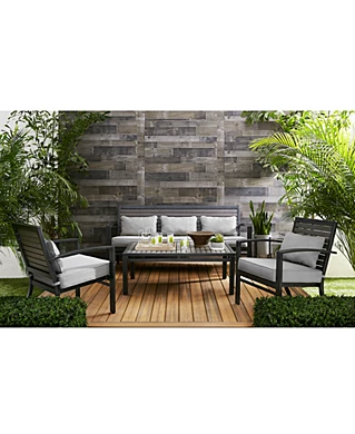 Clearance Closeout Patio Furniture Macy S Outdoor Seating Teak Patio Furniture Outdoor Sofa