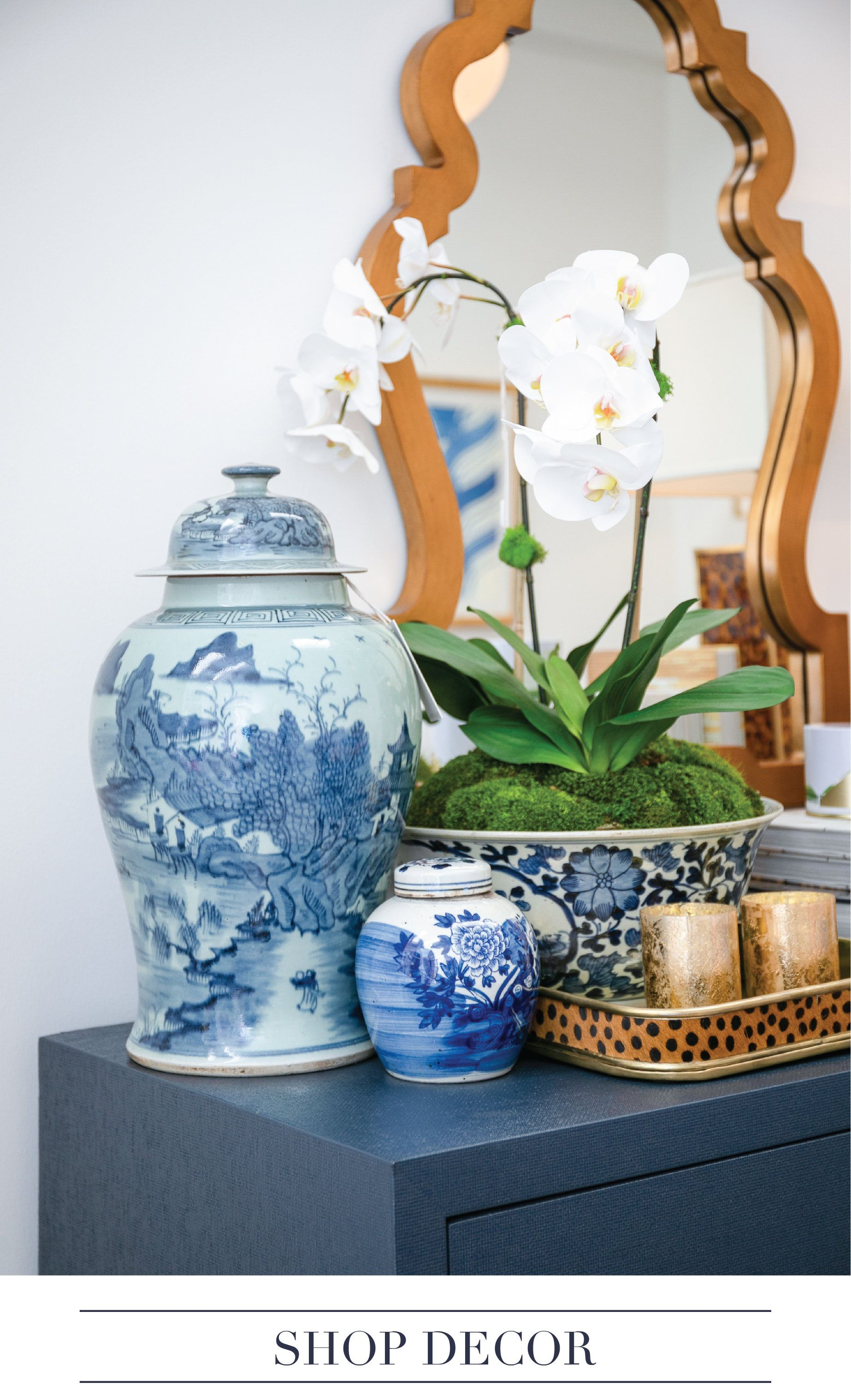 Accessories Chic Home Interior Ideas Side Table Decor Chinoiserie Luxury Blue And White