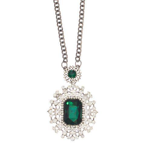 Emerald Art Deco Necklace