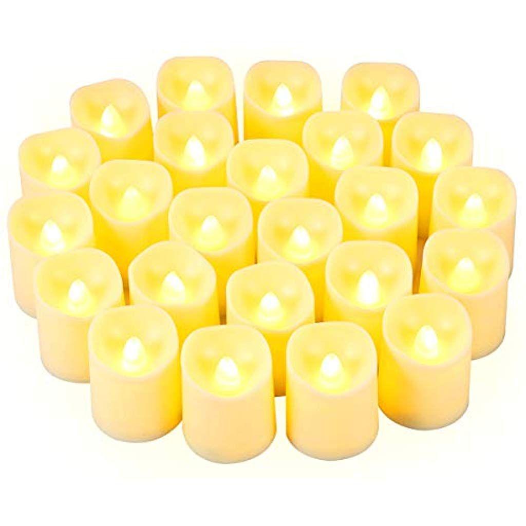 Criacr Led Kerzen 24 Led Kerzen Flackernde Flamme Flammenlose Led
