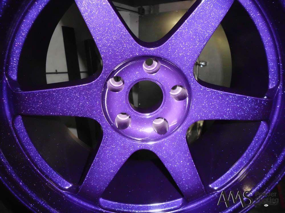 Candy apple purple powder coating candy sparkle purple