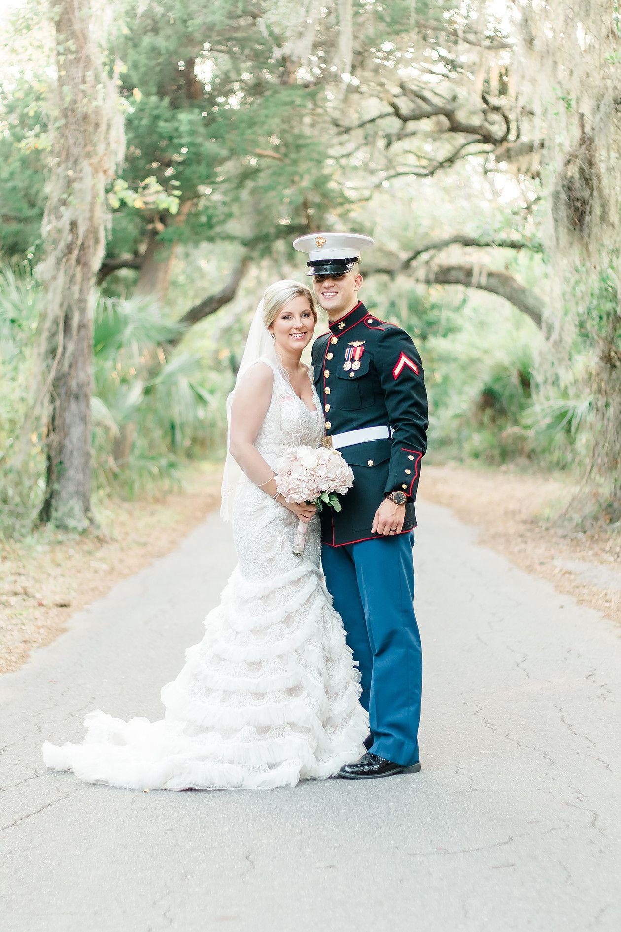 Southern, Fall, Florida Wedding Blush, Rustic + Military