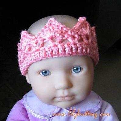 Crochet Tiara Pattern Free Pattern Crocheted Crown Headband