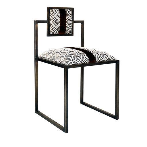 Francesco Della Femina Grigio And Bronze Square Chair 1 980 Mobilier De Salon Collection De Meubles Chaise Design