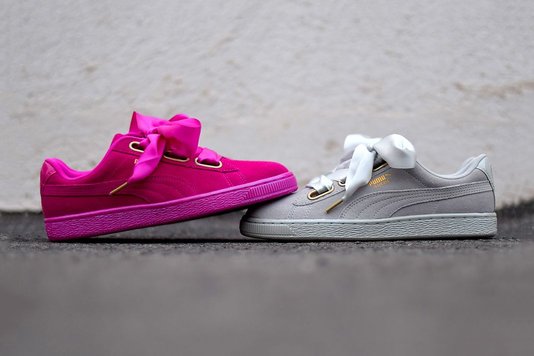 eab8a6c6ee5 PUMA s New Suede Heart Satin Is About to Tie Up Your Heartstrings ...