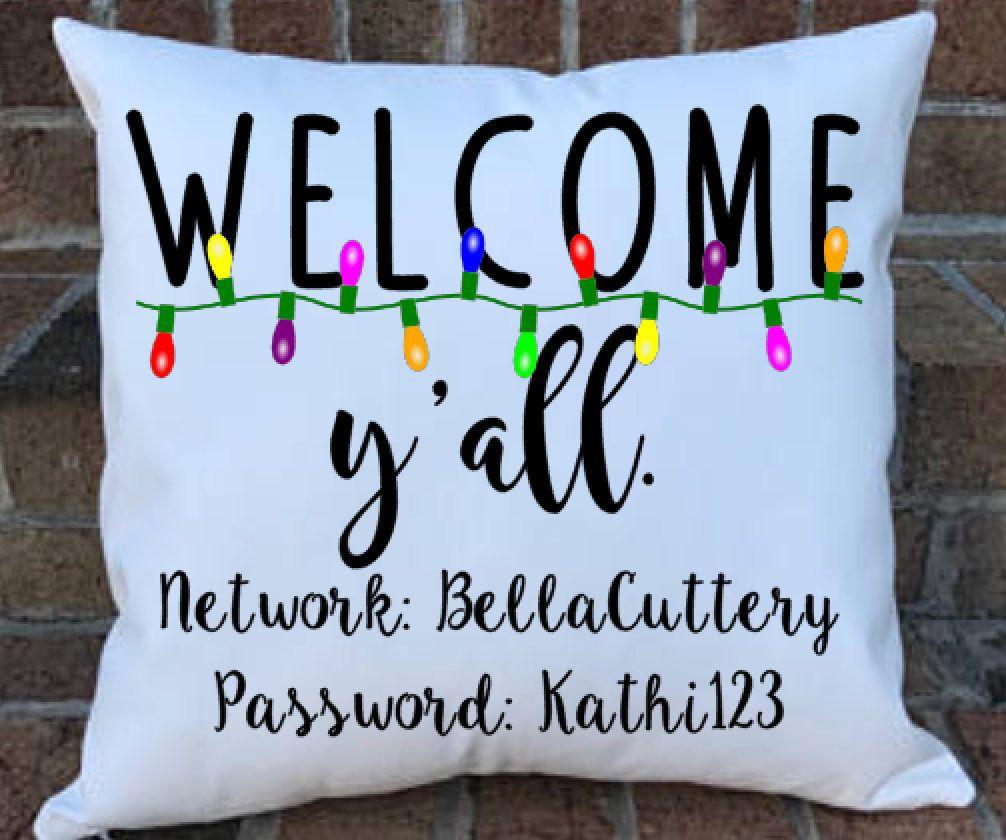 Christmas Throw Pillow, WiFi Password, Internet Password, Fall ...