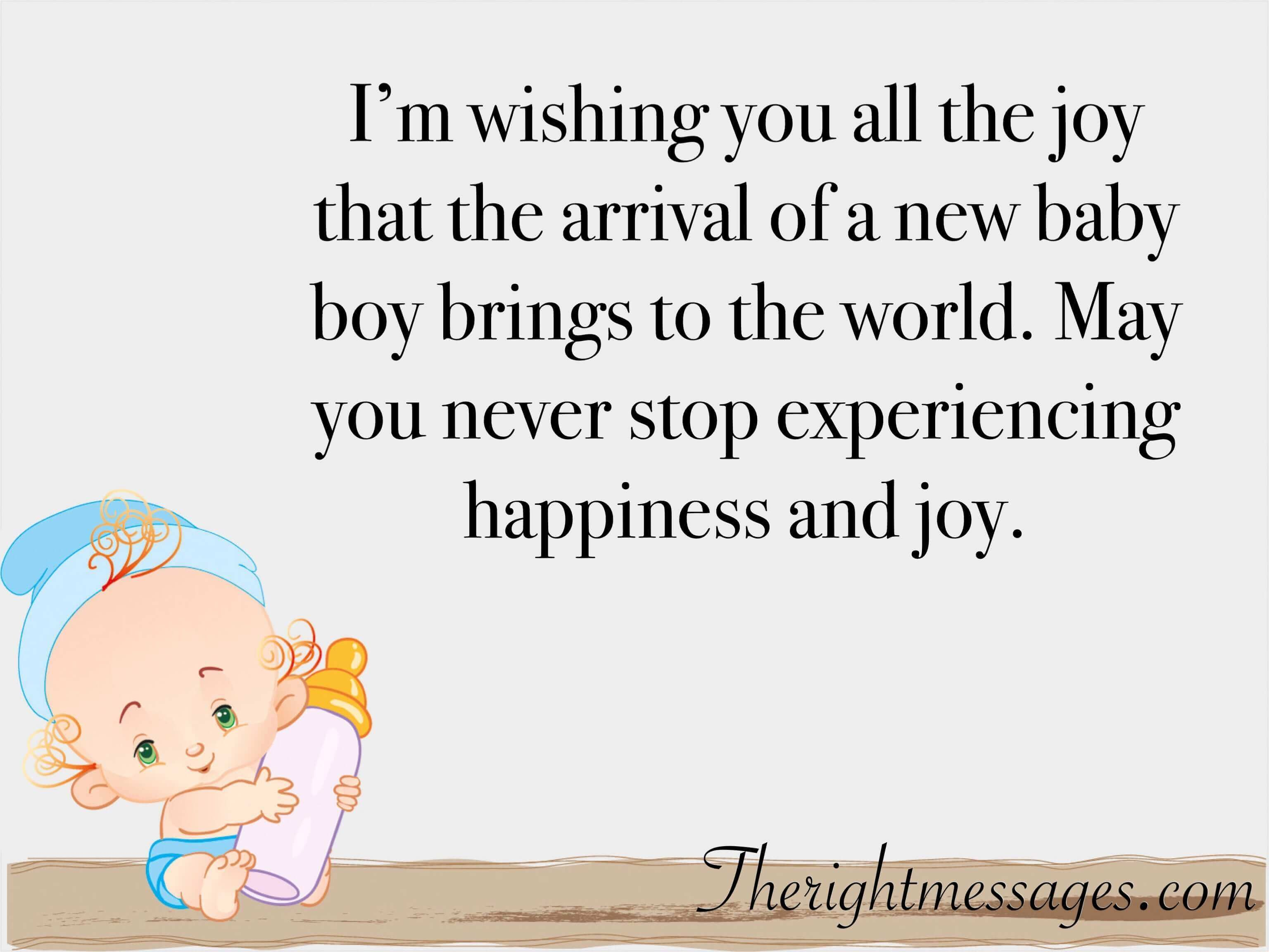 70 Congratulation Wishes For New Born Baby Boy The Right Messages Baby Born Congratulations Congratulations Baby New Baby Quotes