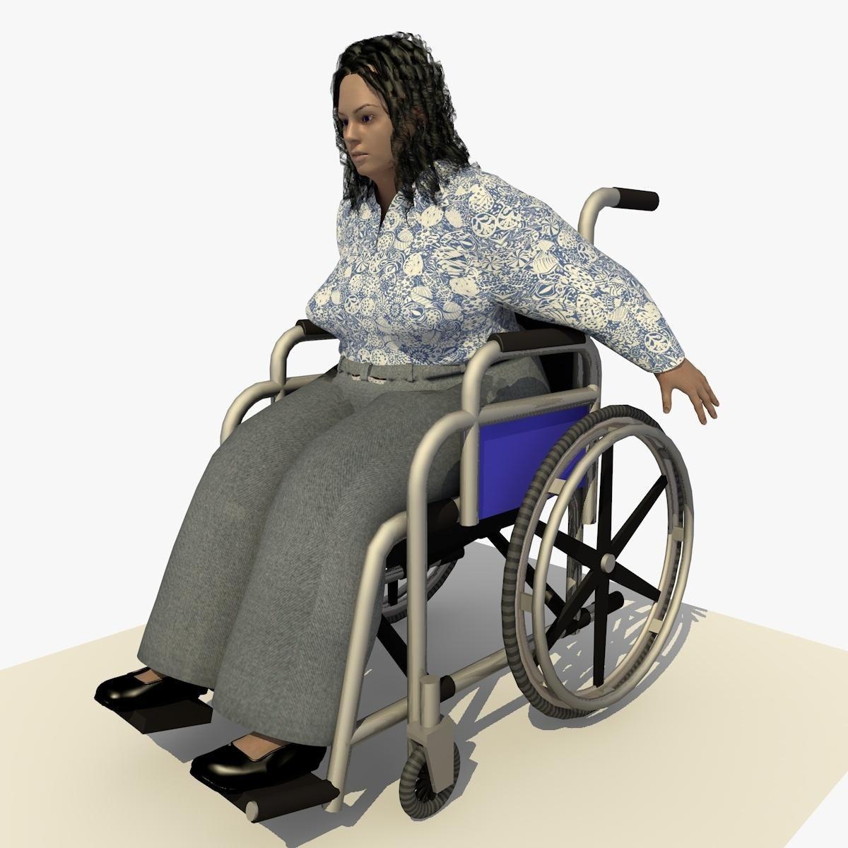 Animated Disabled European Woman In A Wheel Chair 3d Model Ad European Disabled Animated Woman European Women Women Model
