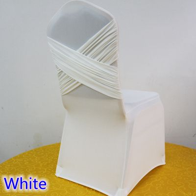 lycra chair covers for sale herman miller air white colour universal two cross spandex swag back cover luxury wedding party decoration on in from home garden