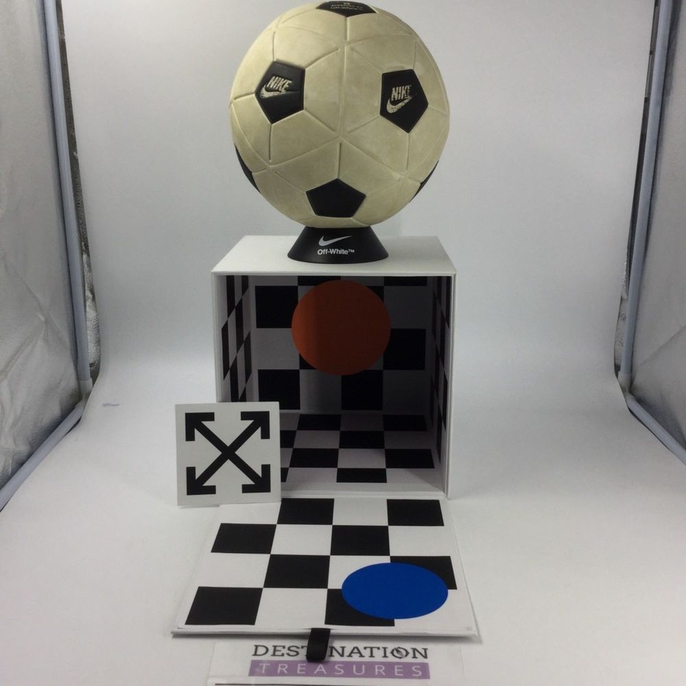 Nike X Off White Virgil Abloh FOOTBALL Soccer Ball NIB Distressed