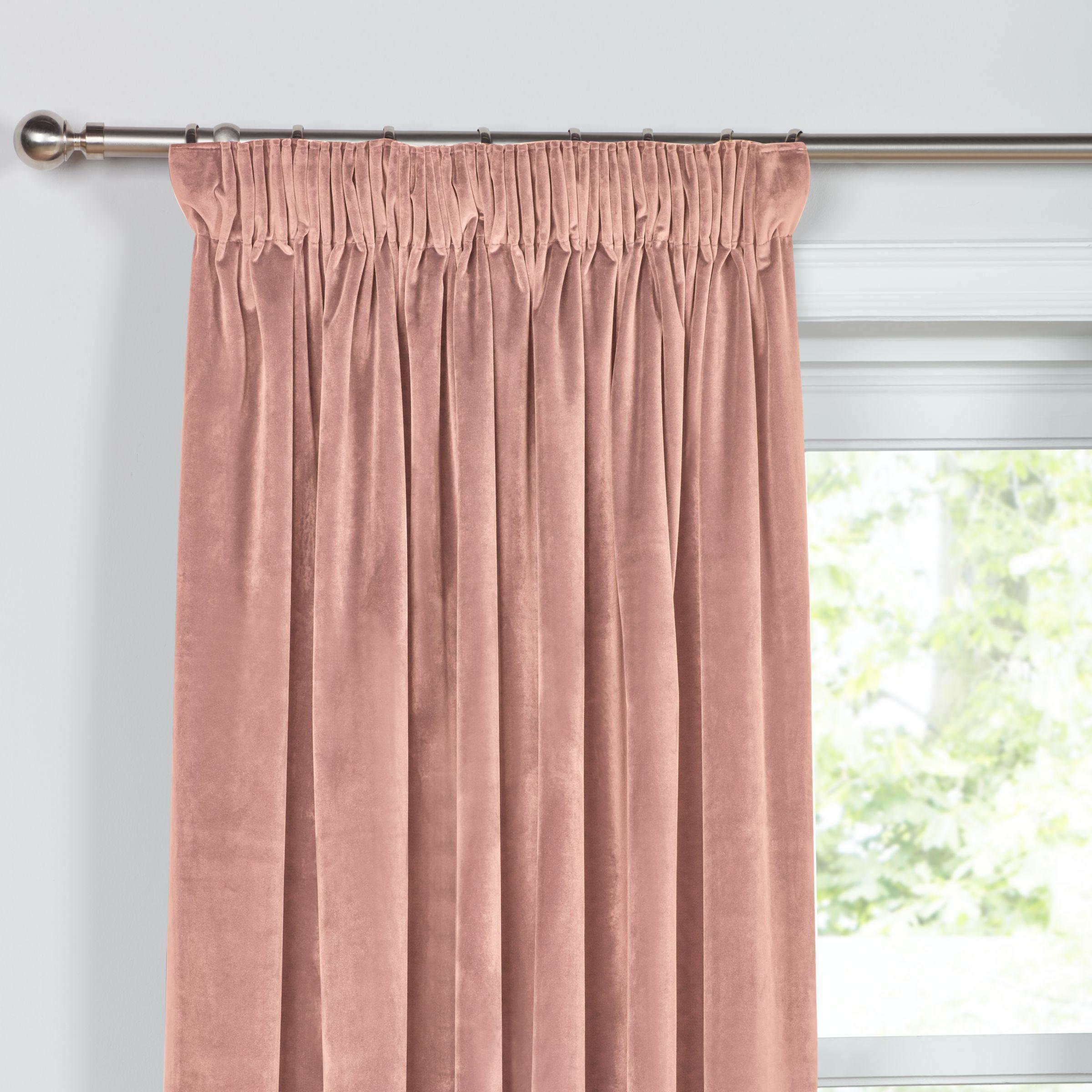 John Lewis Partners Lustre Velvet Pair Lined Eyelet Curtains