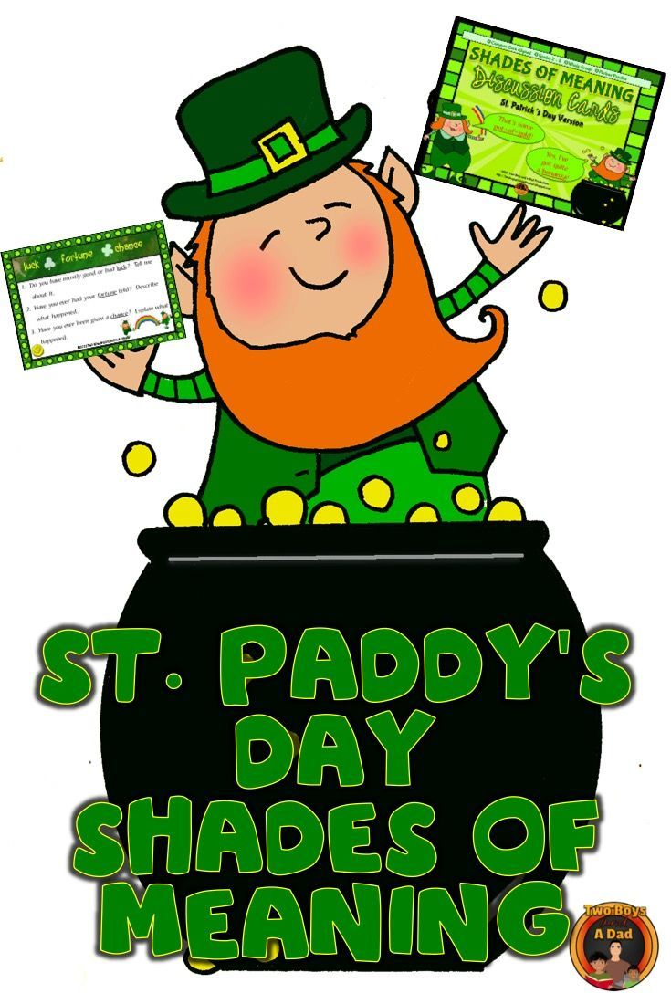 Uncategorized Leprechaun Meaning this saint patricks day freebie includes 12 cards for students to shades of meaning discussion st