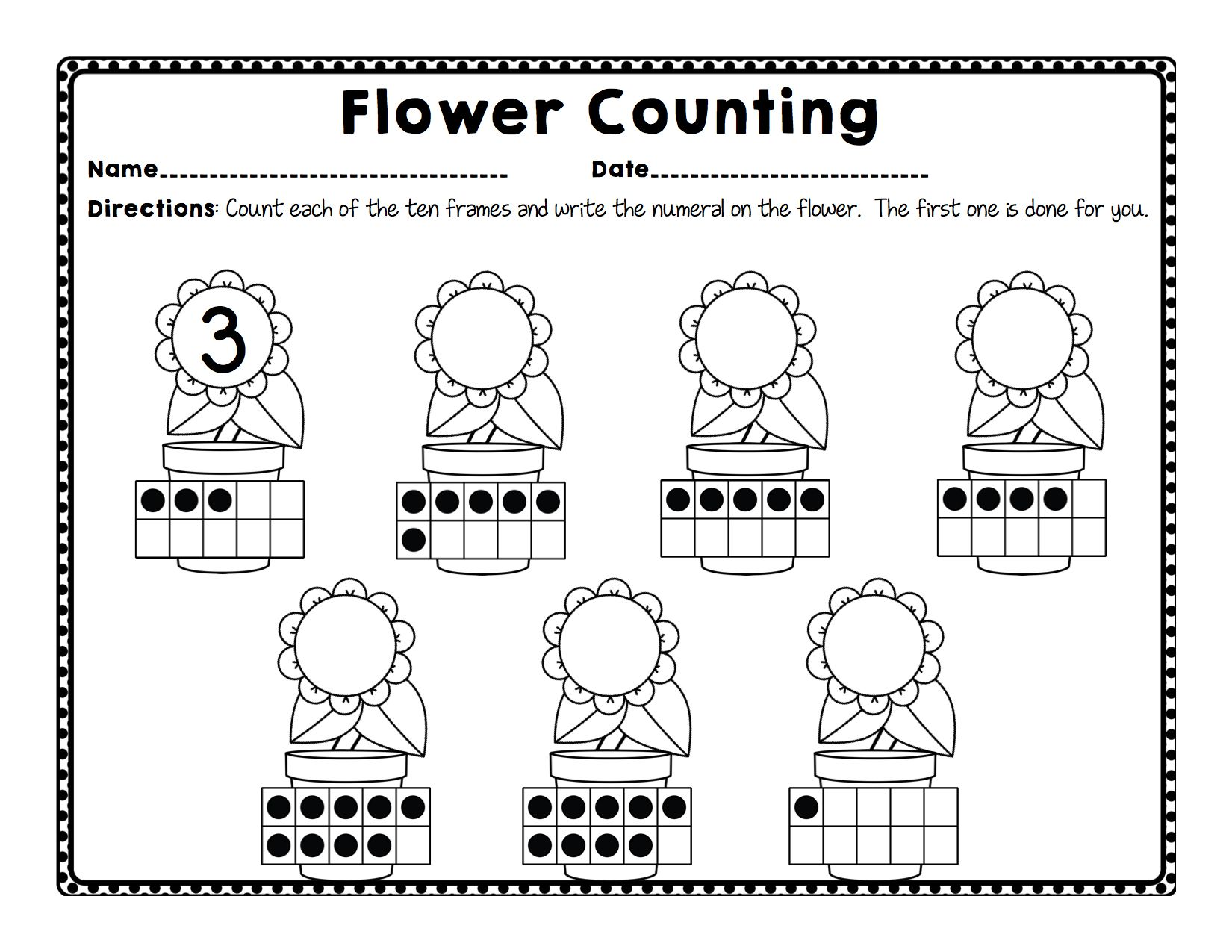 This Unit Is Jam Packed With Activities Worksheets Centers Projects And Much More To Integrate A Plant And Flower Theme Across All C Flowers The Unit Plants [ 1275 x 1650 Pixel ]