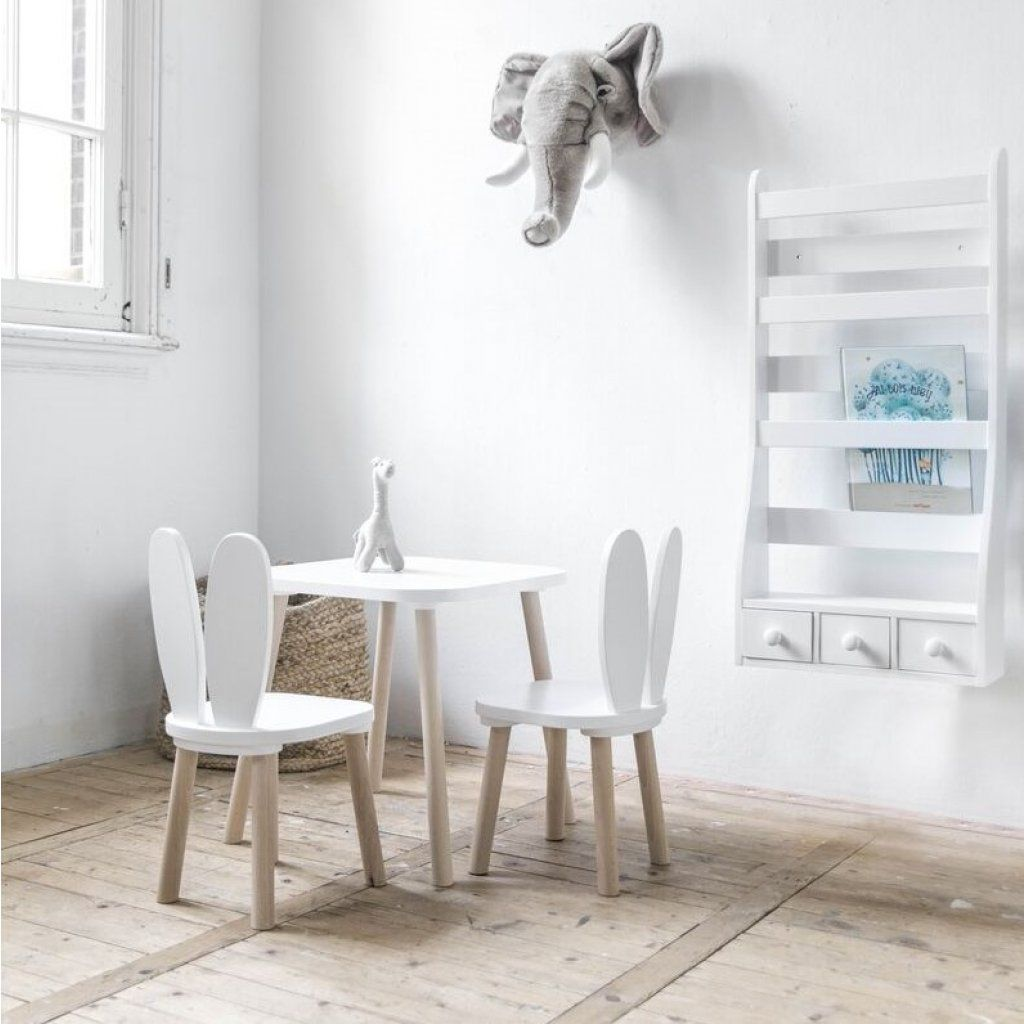 Chaises Et Table Enfant Lapin Blanc Petite Amelie Chaise Enfants Table Et Chaise Enfant Chaise Enfant Table Enfant