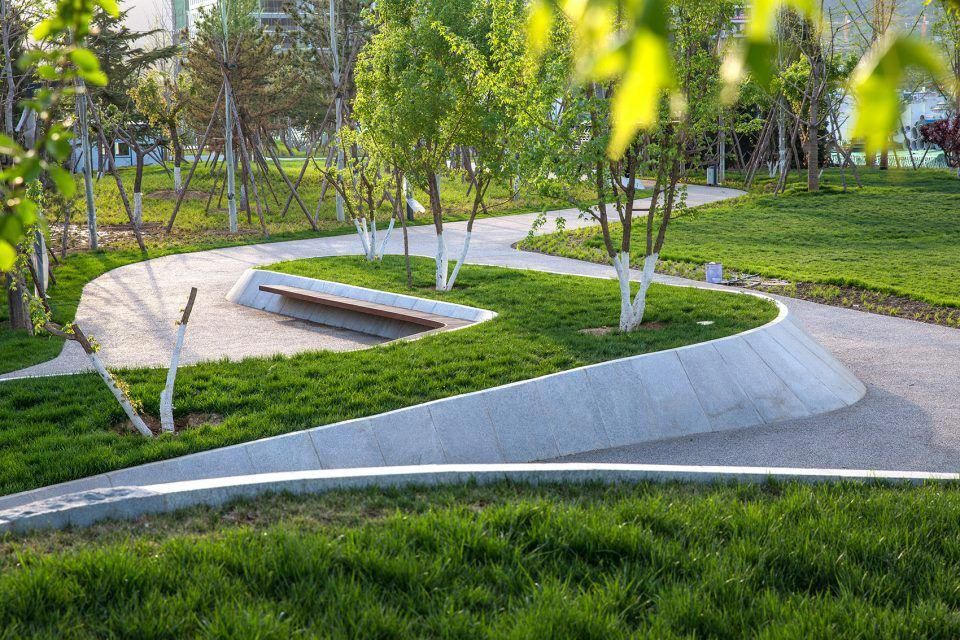 Core Green Space In Beijing Insurance Industrial Park China By