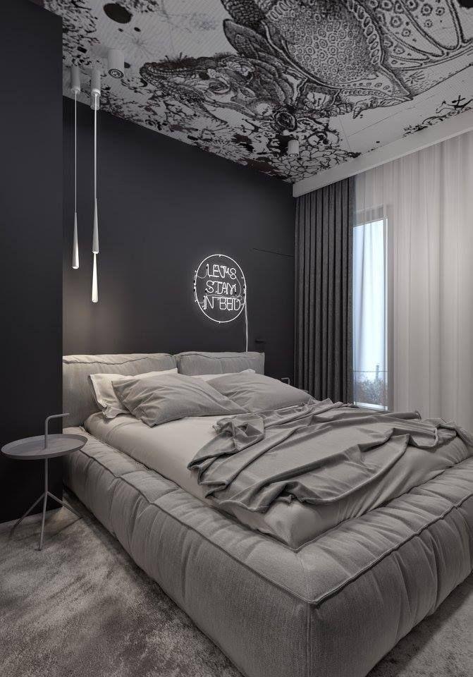 Merveilleux Schöne Schlafzimmeridee Liebt Die Graue Farbe #Schlafzimmer #Interiorideas  #slaapkamer ..., #farbe #graue #interiorideas #liebt #schlafzimmer ...