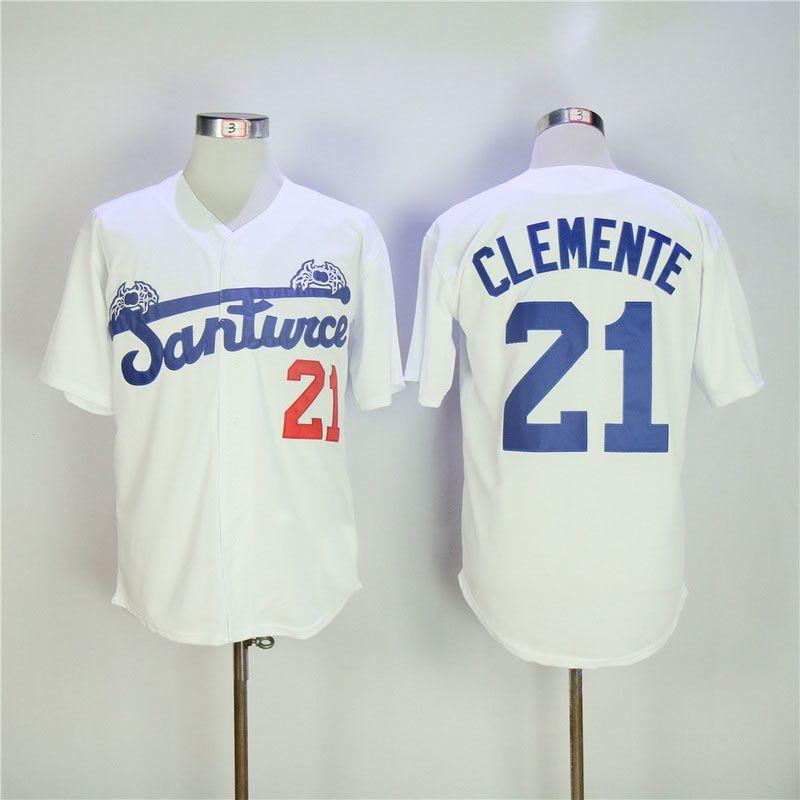 Roberto Clemente Santurce 21 Puerto Rico Baseball T-shirt Size XL
