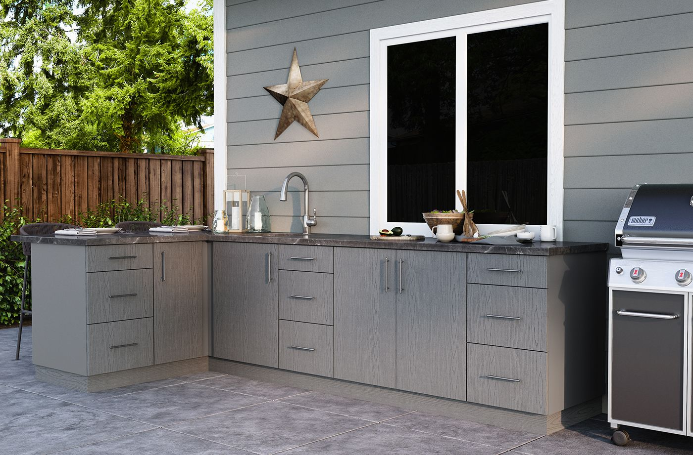 Costco Weatherstrong Outdoor Cabinetry In 2020 Outdoor Kitchen Cabinetry Kitchen