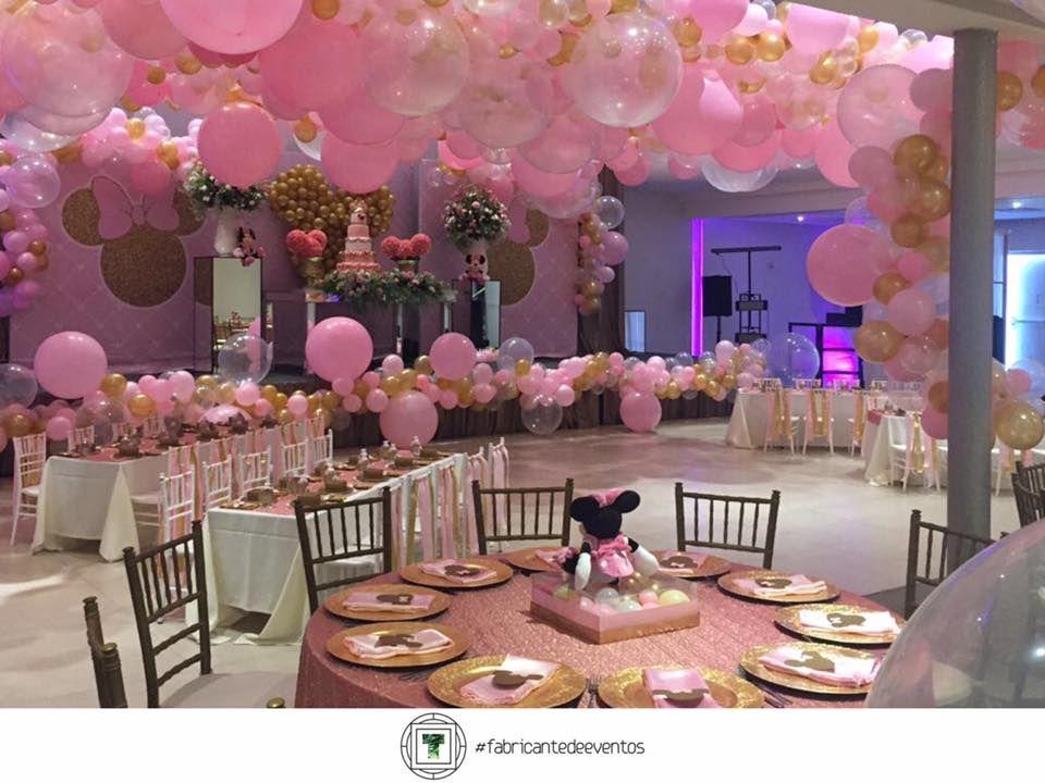 Fiesta tematica de minnie en rosa y dorado 29 - Decoracion fiesta rosa ...