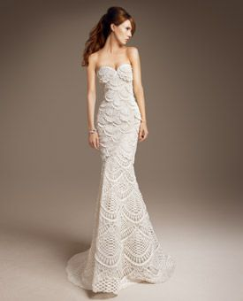Glamorous Strapless Ed Ornate High Fashion Wedding Gown By Carolina Herrera Featured On Brides
