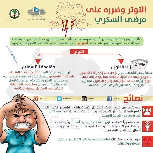 التوتر وتأثيره على مرضى السكري Health Advice Health Diabetes