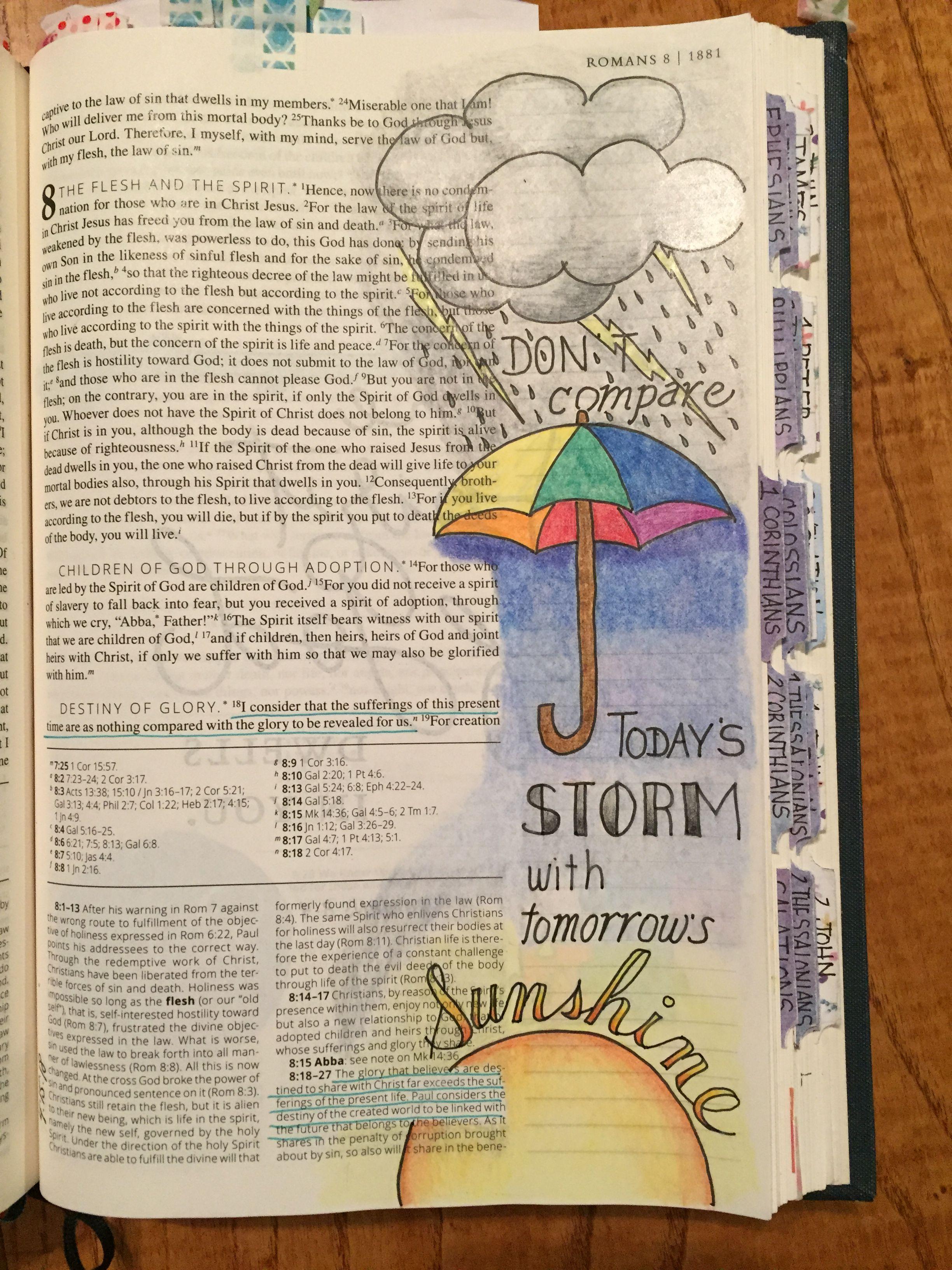 Romans 818 Bible Journaling