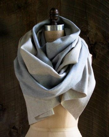 DIY Bias Cut Wool Scarf - FREE Sewing Pattern and Tutorial