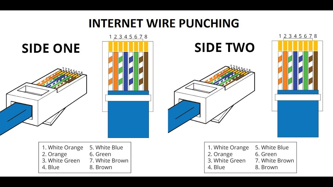 How To Use Punching Tools With Rj45 Plug Youtube Ethernet Wiring Ethernet Cable Cat6 Cable