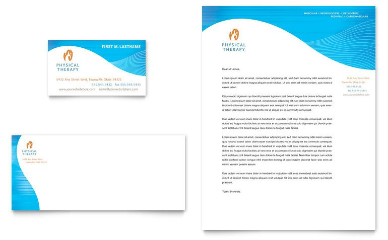 Therapist Business Card Letterhead Template Preview Pdf Log - letterhead template