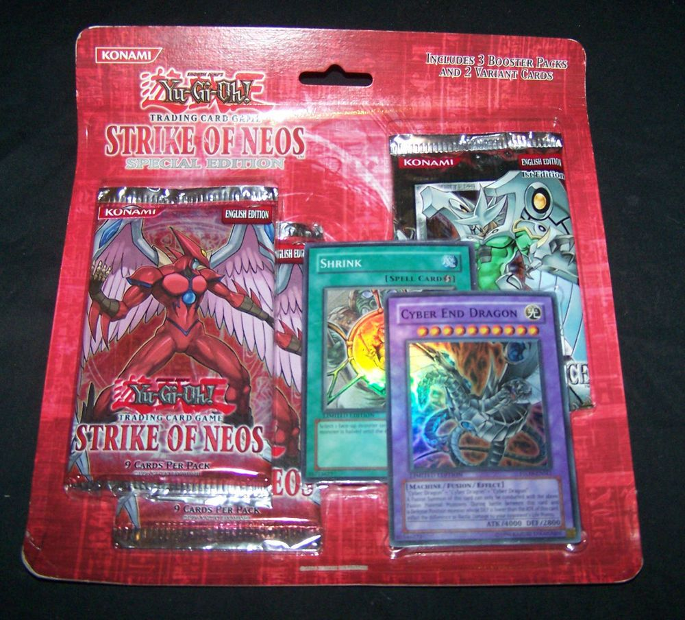 Yu-Gi-Oh Strike of Neos *Special Edition* 3 Booster Packs + 2 Limited Rare  Cards