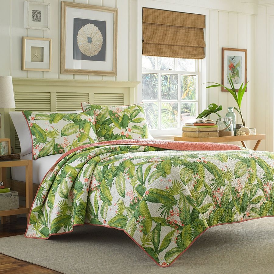 Tommy bahama aregada dock ecru quilt set tropical bedrooms - Tommy bahama beach house bedroom ...