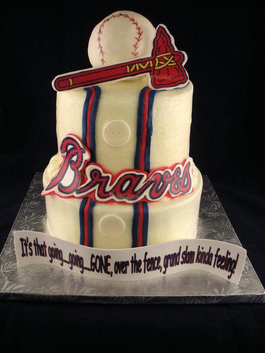 Braves Grooms Cake Bridal Shower
