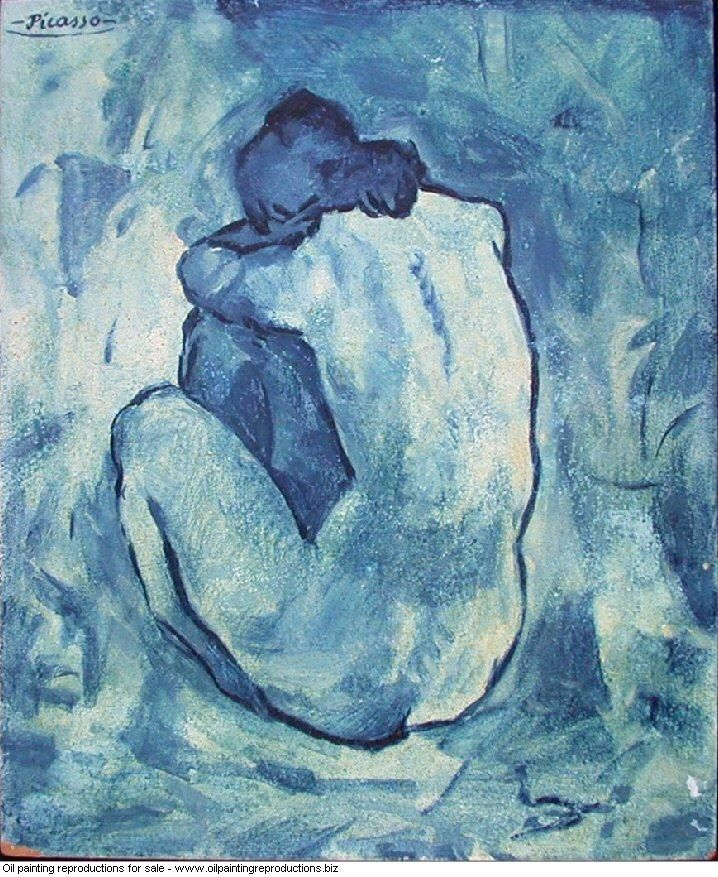 Picasso Blue Nude Lithograph
