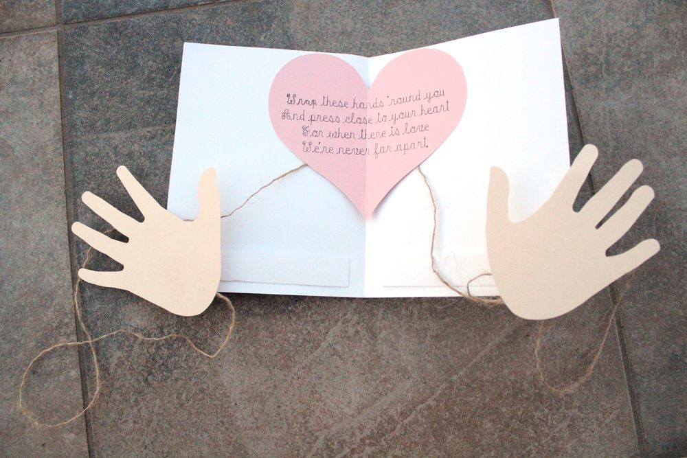 Diy hug in the mail card with instant svg download