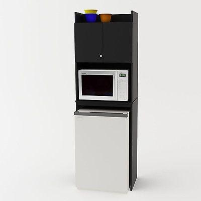 Kitchen Storage Cabinet Combo Refrigerator Microwave Mini Fridge Dorm Studio New