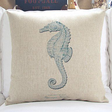 4 Sea Life Theme Decorative Pillow Covers Beachfront Decor Decorative Pillow Covers Decorative Cushion Covers Pillows