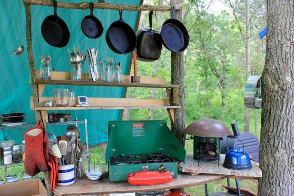 Camping Kitchen Set Up Outdoor Cooking