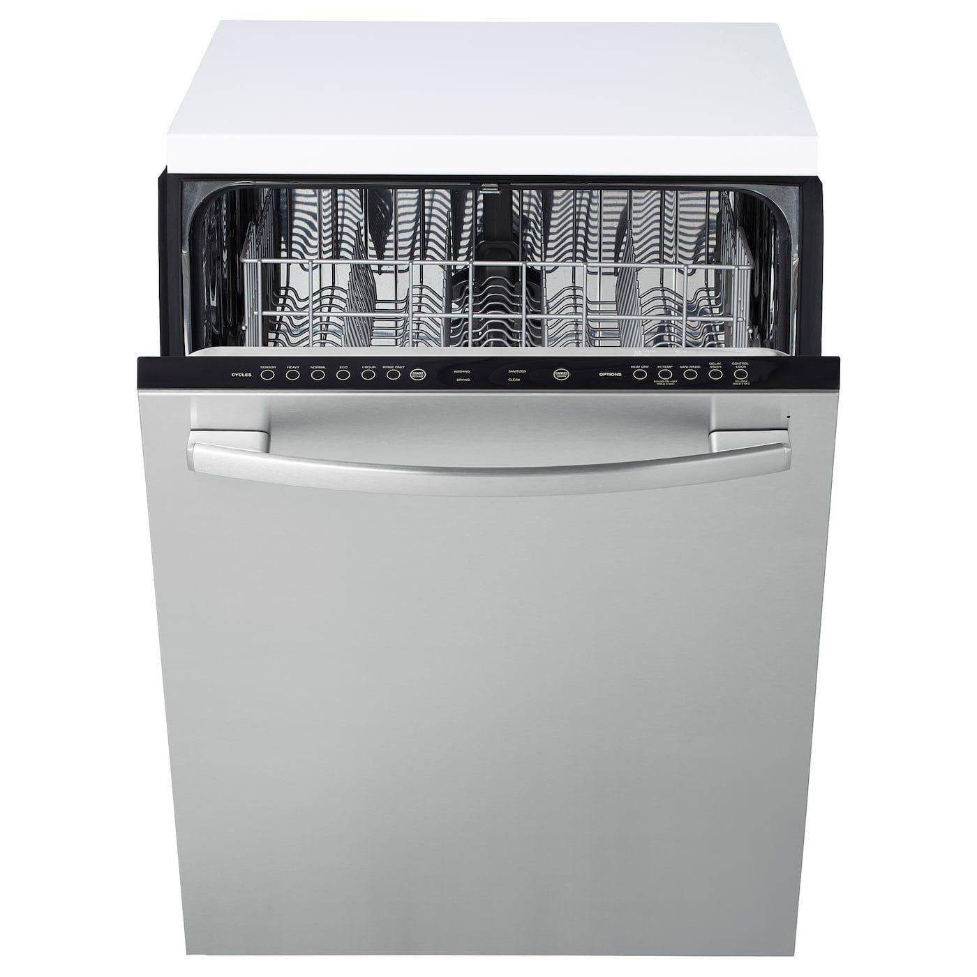 Betrodd builtin dishwasher stainless steel ikea