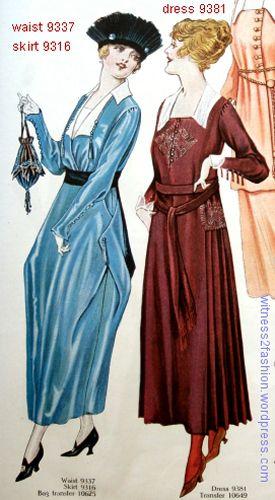 1917 sept p 51 waist 9337 skirt 9316 dress 9381 500
