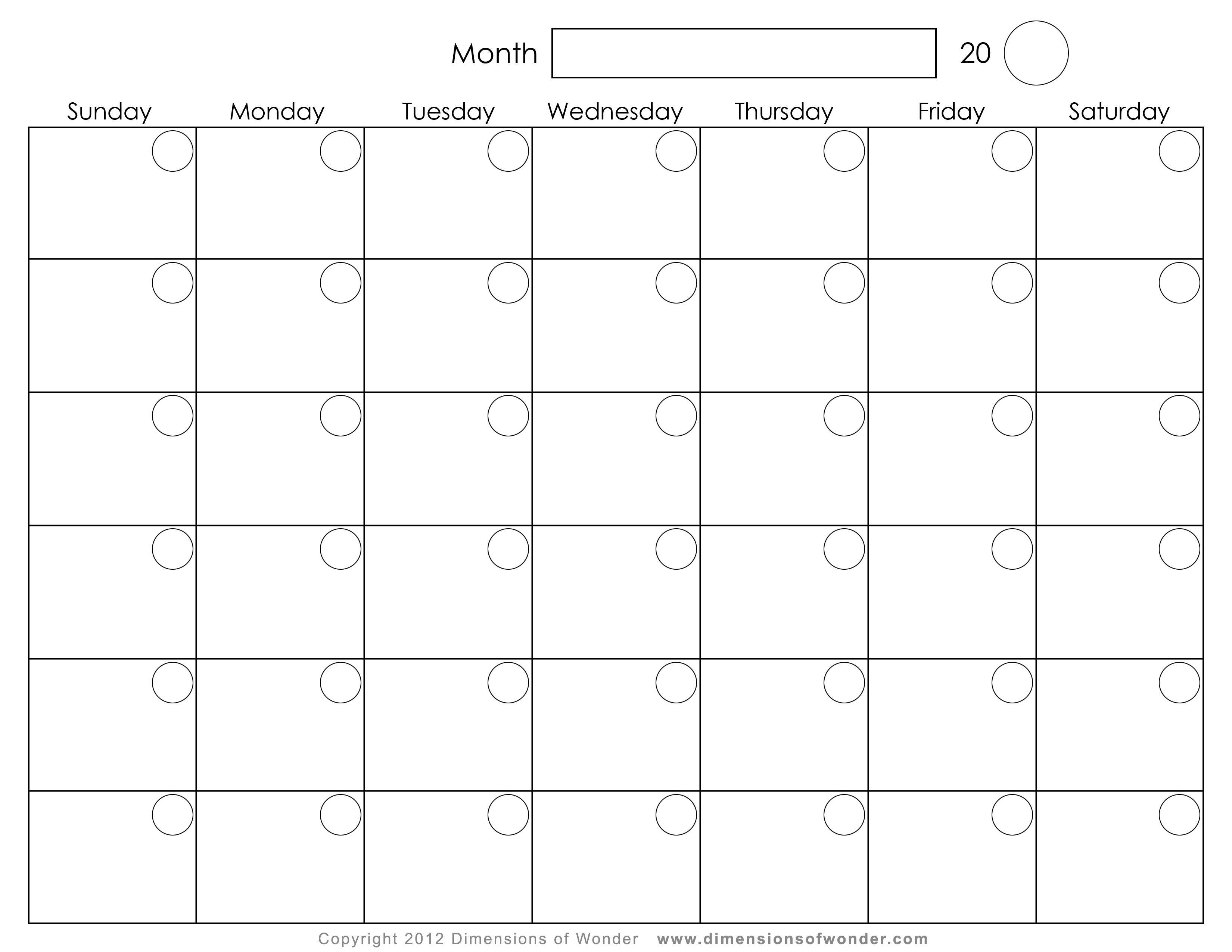 Printable Monthly CalendarsPrintable Calendar Template Printable ...