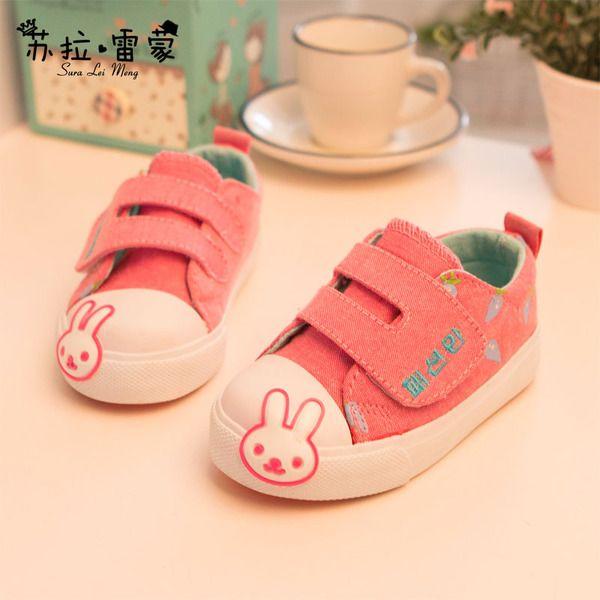 男童女童鞋新款時尚2015春秋款韓版兒童小兔子低幫休閑帆布鞋板鞋